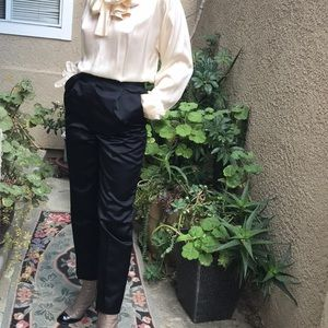 Vintage black Gucci silk high waisted pants